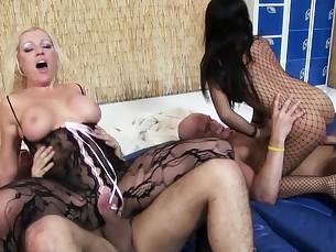 ass big-tits blonde blowjob boobs brunette big-cock cumshot deepthroat