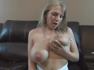 amateur ass big-tits blonde boobs curvy dildo high-heels homemade