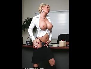 ass big-tits blonde boobs hidden-cam hot mammy milf office