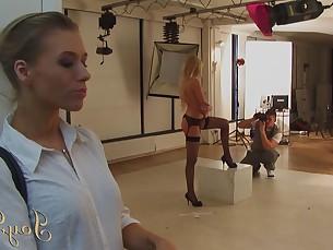 big-tits blonde big-cock cumshot erotic fingering hot huge-cock lesbian