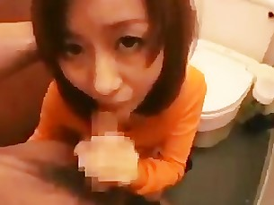 bathroom blowjob cumshot granny hot japanese mature mouthful sucking