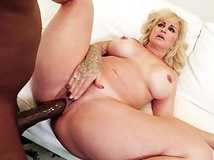angel ass big-tits black blonde blowjob big-cock cumshot curvy