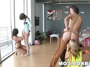 ass big-tits boobs brunette bus busty cougar gang-bang group-sex