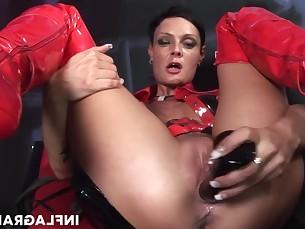 brunette fingering fuck kinky latex lingerie masturbation milf orgasm