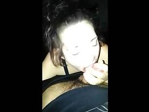 amateur babe blowjob brunette big-cock girlfriend hot juicy milf