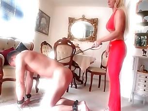 big-tits blonde boobs domination kinky mammy milf spanking
