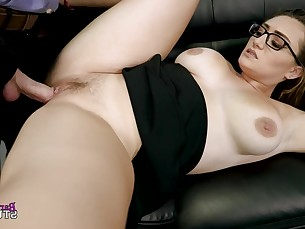 ass big-tits boobs brunette big-cock cumshot doggy-style glasses hardcore