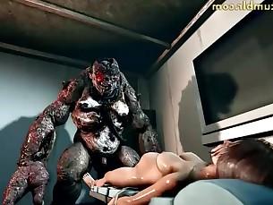 hardcore mature monster playing