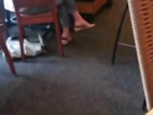 amateur feet milf playing public