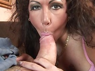 big-tits blowjob brunette close-up big-cock creampie cumshot deepthroat doggy-style