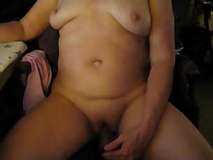 brunette cumshot dildo interracial little mammy masturbation milf playing