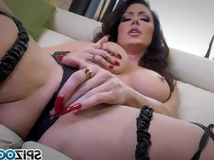 big-tits brunette fingering masturbation milf natural pornstar solo
